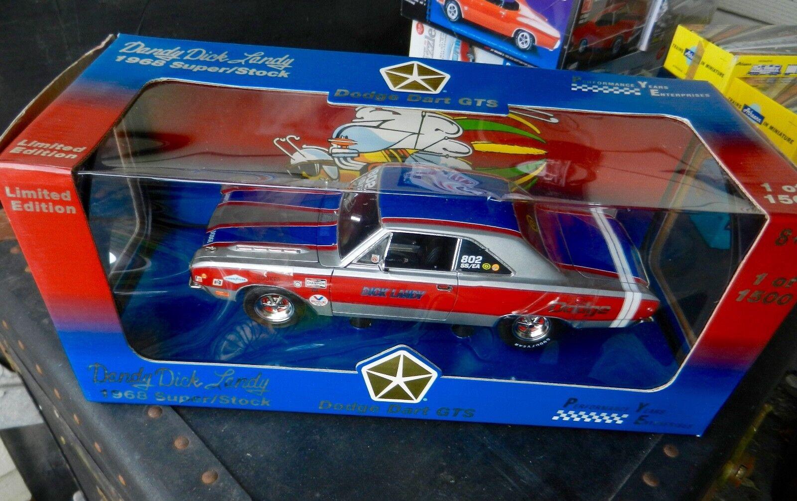 Ertl DCP 1968 Dodge Dart GTS DICK LANDY's Super Stock SS EA  Dandy Dick  1 18th