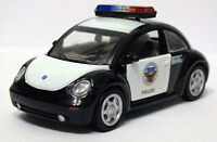 Usa Vw Beetle Black And White 1:43 Diecast Worlds Police Cars - Free Shipping