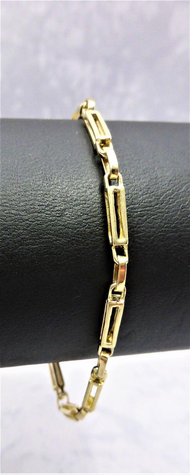 9CT SOLID YELLOW gold FINE QUALITY BRACELETS -5.3gr-19cm