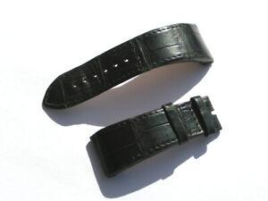 23mm-Chopard-Uhren-Armband-Ersatzband-Lederarmband-Croco-schwarz-70-105-i146