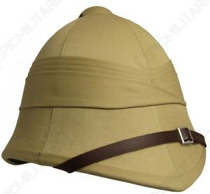 fe9d29cc1b366 Image is loading British-Army-Tropical-Pith-Helmet-Repro-Explorer-Rorke-