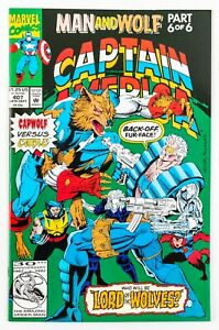 Captain-America-407-1992-Marvel-Man-and-Wolf-Part-6-Cable-Wolverine-NM