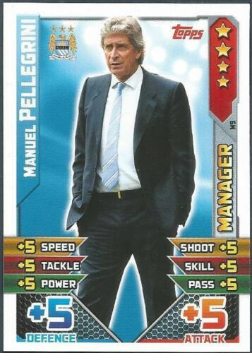 TOPPS MATCH ATTAX 2015-16 #M09-MANCHESTER CITY-MANAGER-MANUEL PELLEGRINI