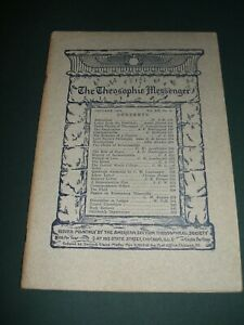 The-Theosophic-Messenger-for-Jan-1911-Occult-Religion-Philosophy-Spiritualism