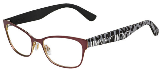 a29e22f8b43a Jimmy Choo Eyeglasses Glasses Matte Brown JC104 FQY Frame Italy 52mm  Authentic