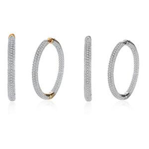 18K-White-Gold-Plated-Micro-Pave-Cubic-Zirconia-Huggie-Hoop-Earrings-8mm