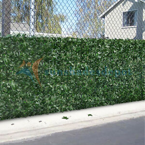 Artificial green ivy leaf privacy fence screen cover home for 8 foot high outdoor privacy screen