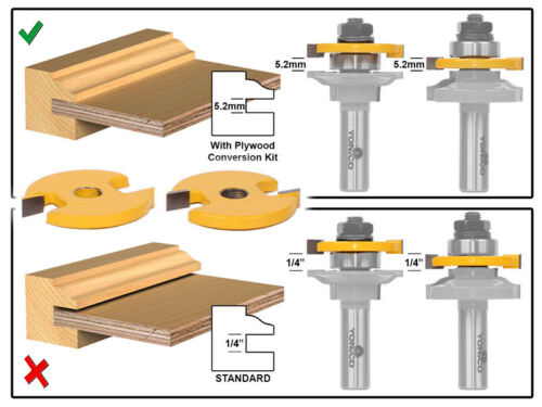 5.2mm Rail and Stile Plywood Conversion Kit Yonico 12201