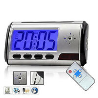 Monitoring Camera Alarm Clock Video Recorder Hidden Cam DVR Motion Detection New