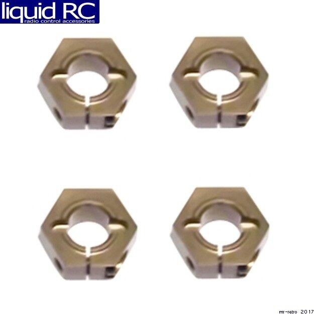 Losi SCTE 12mm Aluminum Wheel Hex Adapters BLUE STLB3495B SCBE TEN-SC TLR