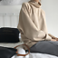 Women-Cashmere-Mink-Fur-Pullover-Sweater-Oversized-Loose-Stretch-Top-Coat-Jacket thumbnail 10