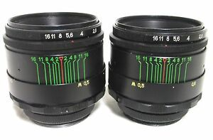 2-PIECES-HELIOS-44-2-Russian-Lens-58mm-F2-good-condition-M42-one-lot