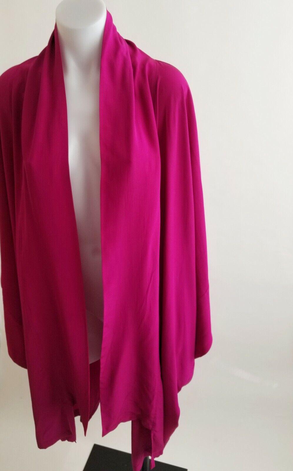 Laise Adzer Womens Silk Vintage Open Front Boho K… - image 4