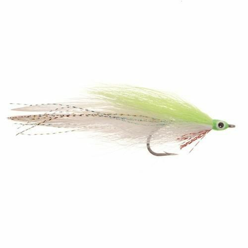 (2) Lefty's Deceiver Chartreuse/White #2 Saltwater Fly by Umpqua SHIPS FREE
