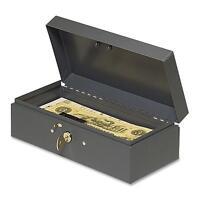 Mmf Industries Cash Box Piano Hinges Key Entry 10-1/4x4-3/4x2-7/8 Gy 2212cbgy