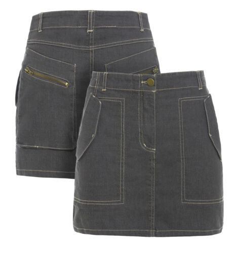 NEW Womens Skirt Stretch Short Mini Skirts Ladies Size 8 10 12 14 Grey Girls