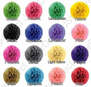 18-Tissue-Paper-Pom-Poms-MIX-3-SIZE-8-034-10-034-15-034-Flower-Wedding-Party-Home-Decor