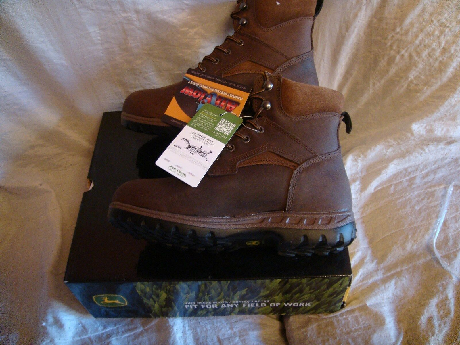 John Deere 6  Lace Up Boot Womens Leather Gaucho 8.5US  NIB