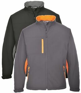 8de4dcfe6514 Details about PORTWEST TX45 Texo black or grey soft-shell jacket size small- 3XL