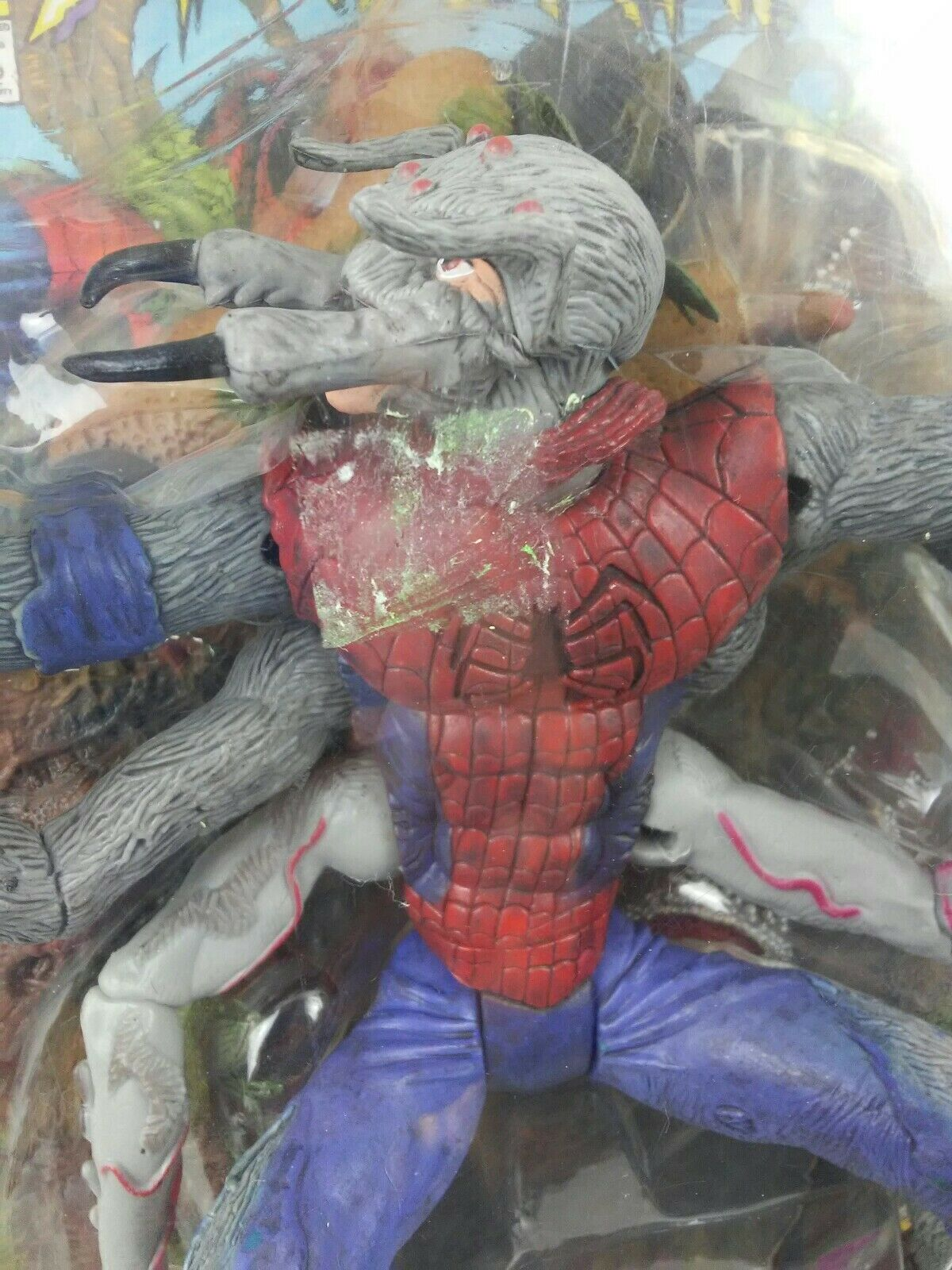 The Amazing Spider Man Classics Toy Biz 6  MAN SPIDER w  Display and Comic in Pk