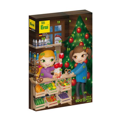 # Erzi 28254 Adventskalender mit 24 Überraschungen aus Holz für Kaufladen NEU