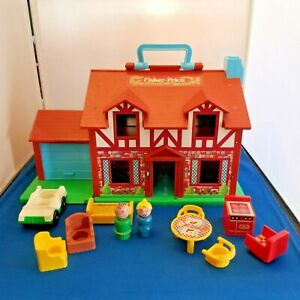 Fisher-Price-Little-People-Play-Family-House-952-1980-Furniture-Vintage-4