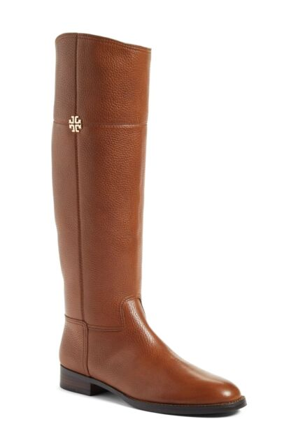 2e3ce812b94 Tory Burch Women s Leather Jolie Riding Boots Rustic Brown 6375 Size ...