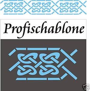 Malerschablone Wandfries Mäander Stupfschablone Dekorschablone Keltischer Knoten