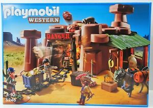 Playmobil-5246-Western-Set-Goldmine-mit-Sprengkiste-NEU-NEW-OVP