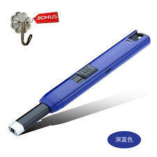 Rechargeable USB Electric Arc Lighter Gas Stove Igniter Windproof Gift Dark Blue