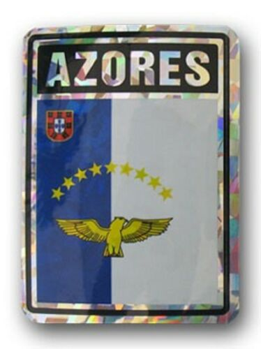Azores Country Flag Reflective Decal Bumper Sticker