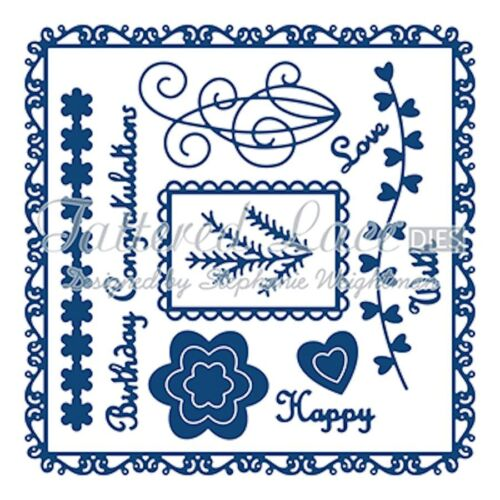 Tattered Lace Dies by S 13-piece TTLD860 Weightman ~ Getting Started Die Set
