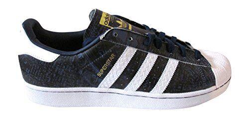 Para Hombre Adidas Originales Superstar NYC reinas Oscuro Azul blancoo Entrenadores S31646
