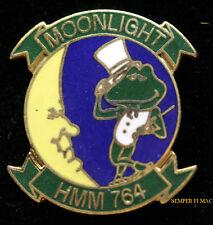HMM-764 MOONLIGHTERS LAPEL HAT PIN UP US MARINES VETERAN MCAS MOON FROG GIFT MAW
