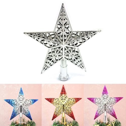 Christmas Tree Star Topper Ornament Party Decoration Xmas Hot Decorations StarsB