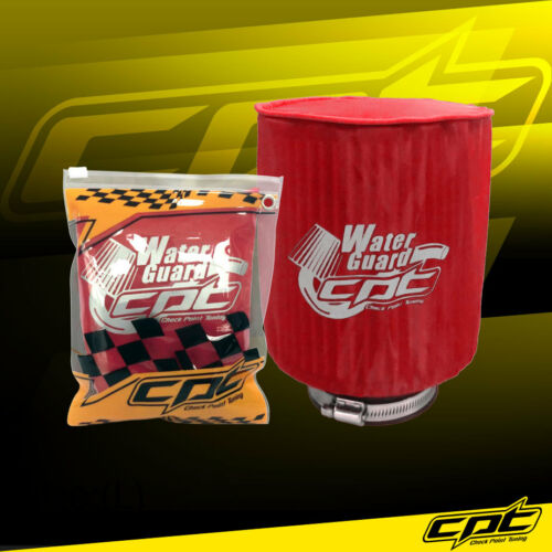 Water Guard Cold Air Intake Pre-Filter Cone Filter Cover Ram Pickup Large Red