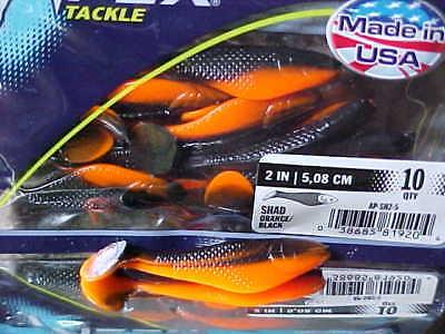 "APEX 2/"" 5.08cm Swim Shads 10 Pack AP-SH2-6 for Bass//Walleye//Crappie//Perch"