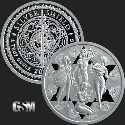 1 OZ PROOF .999 PURE SILVER PRUDENCE MINI MINTAGE ROUND COIN COA SILVER SHIELD
