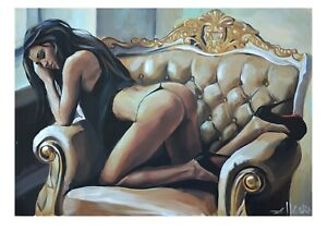 LIMITED-EDITION-PRINT-BY-ELLECTRA-NUDE-EROTIC-OIL-ROSE-LESBIAN-INTEREST