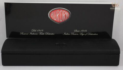 AURORA IPSILON BLACK WITH BORDEAUX LACQUER RING FOUNTAIN PEN INNOVATIVE DESIGN !
