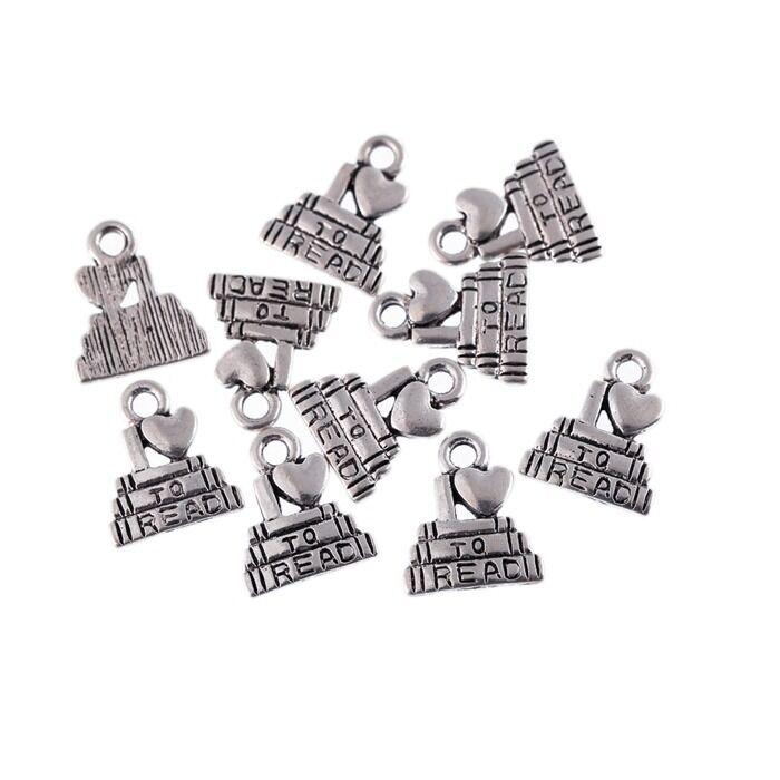 10pcs Bull Dogs Tibetan Silver Bead Charms Pendants Fit DIY 15*16mm