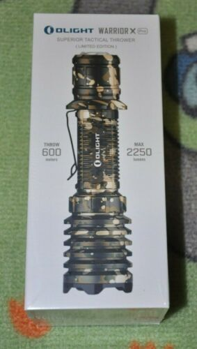Olight Warrior X Pro Desert Camouflage Rechargeable Tactical Flashlight 2250 LM