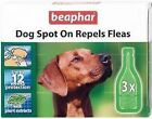 C83 Beaphar Herbal Natural Dog Puppy Spot on Repels Fleas 12 Weeks Protection