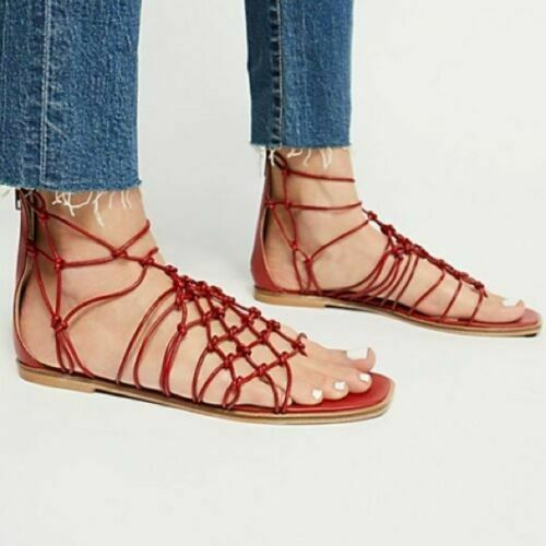 Sandal Free People Forget Me Knot Sandal Red Size 39NEW