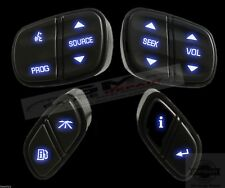 GM Chevrolet Steering Wheel buttons switches controls New w Blue LED's 4pc set