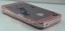 Custodia in silicone trasparente di protezione per iPhone 4 4S ANTIPOLVERE TRASPARENTE/ROSA