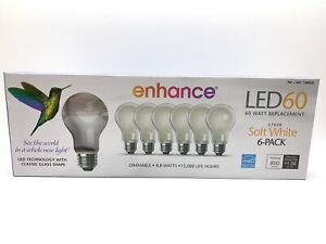 Feit Electric 6-Pack 9.5W 60W Dimmable Soft White LED Bulb 800 Lumens