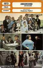 Movie Card. Fiche cinéma. Amarcord (Italie) 1973 Frederico Fellini