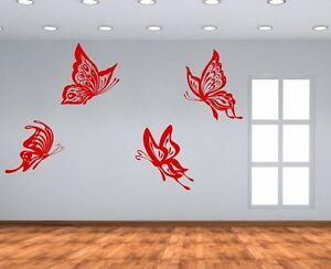 3d butterfly wall stckers wall decors wall art wall.htm 4 huge butterflies amazing wall stickers vinyl decal decor  amazing wall stickers vinyl decal decor