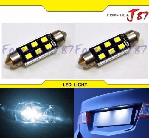 LED Light Canbus Error Free 6411 White 6000K Two Bulbs Dome Map Step Festoon